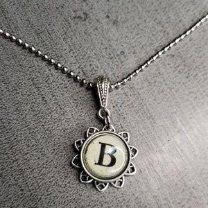 Jewelry - Alphabet initial B typewriter charm necklace